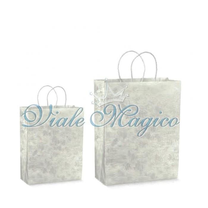 Shopper con Cordoncino Tela Bianco per Regali