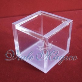 Bomboniere Porta confetti Offerta Scatoline Plexiglass 5x5x5 cm per il Fai da te