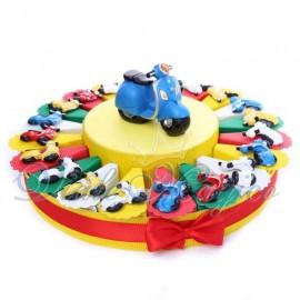 Torta Bomboniere Magnete Vespine Colorate per Compleanno Offerte Confezione