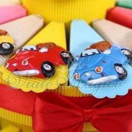 Torta Bomboniere Magnete Macchinina Colorate per Compleanno