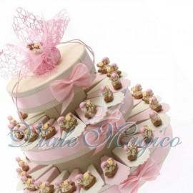 Torta Portaconfetti con Cavalluccio Rosa