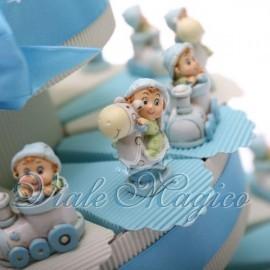 Torta Portaconfetti con Baby Celeste