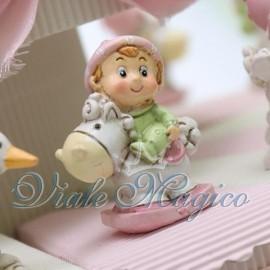Torta Portaconfetti con Baby Rosa