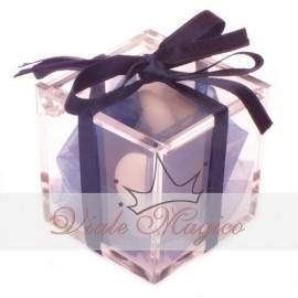Bomboniere Laurea Compleanno Plexiglass completo Nastro Nero Confettata