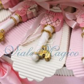 Torta Portaconfetti con Chiave Bebè Rosa