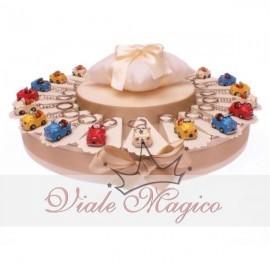 Torta 20 pz Portachiavi Macchinina Cabrio + Confetti