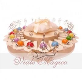 Torta 20 Coccinelle Memoclip + Confetti