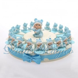 Torta Portaconfetti con Baby Tutina Celeste
