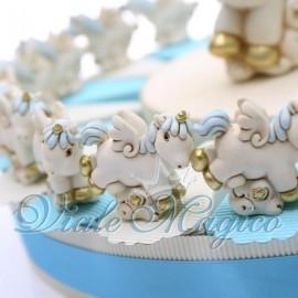 Torta Portaconfetti con Unicorno Celeste