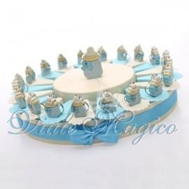 Torta Portaconfetti con Biberon Celeste