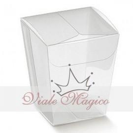 Bomboniere Fai da te Astucci Cubo Porta Confetti PVC Scatolina Confettata