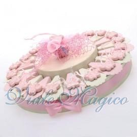 Torta Portaconfetti Appendino Farfalla Rosa