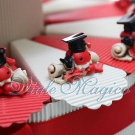 Torta Portaconfetti con Coccinella su Pergamena Laurea