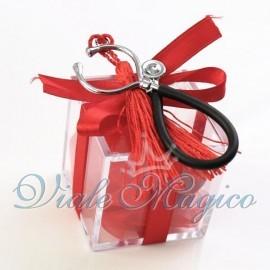 Bomboniere Laurea Ciondoli Portachiavi Plexiglass Rosso con Stetoscopio Offerte