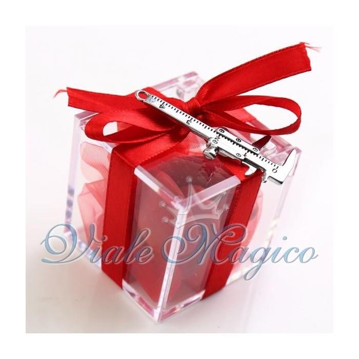 abbastanza Bomboniere Online Plexiglass Rosso con Calibro Laurea TL14