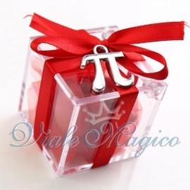 Plexiglass Rosso con Pi Greco