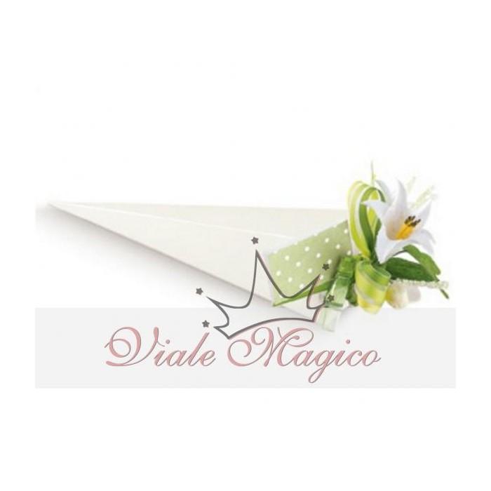 Bomboniere Matrimonio Astuccio Fazzoletto Porta Confetti Bianco Linea Seta