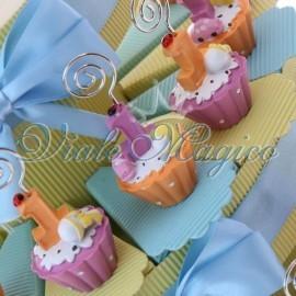 Torta Portaconfetti con Cupcake Memoclip Bimbo