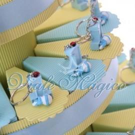 Torta Portaconfetti Portachiave Primo Compleanno Bimbo
