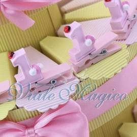 Torta Portaconfetti con Mollettina Compleanno Bimba