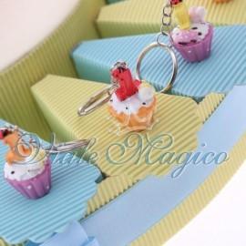 Torta Portaconfetti con Cupcake Portachiave Bimbo