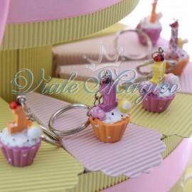 Torta Portaconfetti con Cupcake Compleanno Bimba