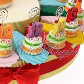 Bomboniere Compleanno Maturità Torta Portaconfetti Memoclip 18 Anni Sconti