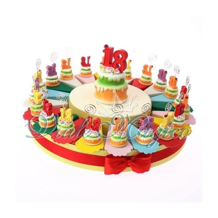 Favorito Bomboniera Online Torta Portaconfetti Memoclip 18 Anni Compleanno BL82