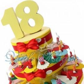 Torta Portaconfetti Coccinella Memoclip 18 Anni