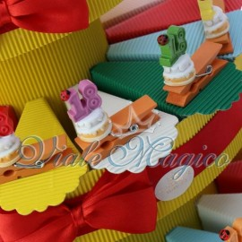 Bomboniere in Offerta Torta Portaconfetti Mollettina Compleanno 18 Anni Sconti