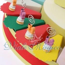 Torta Portaconfetti Dolce Memoclip 18 Anni