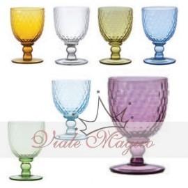 Bicchieri da Tavola Collezione Opera Rose e Tulipani
