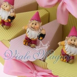 Torta Portaconfetti Rosa con Gnometto