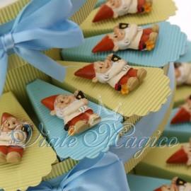 Bomboniere Compleanno Comunione Torta Portaconfetti con Magnete Gnometto Bimbo