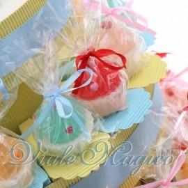 Torta Portaconfetti con Candele Cupcake Colorate Bimbo