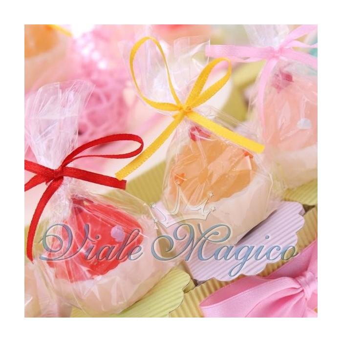 Bomboniere Compleanno Torta Portaconfetti con Candele Cupcake Colorate Bimba