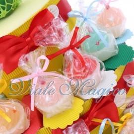 Torta Portaconfetti con Candele Cupcake Colorate