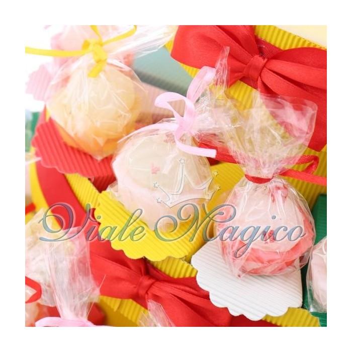 Bomboniere Compleanno Torta Portaconfetti con Candele Cupcake 18 Anni Offerte