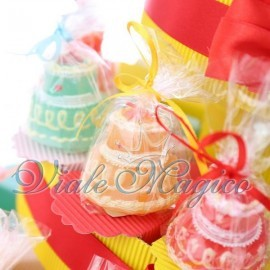 Torta Bomboniere Portaconfetti con Candele Compleanno in Offerta Ragazzo Ragazza