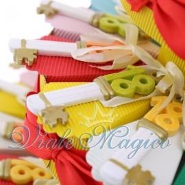 Torta Portaconfetti con Chiave 18 Anni