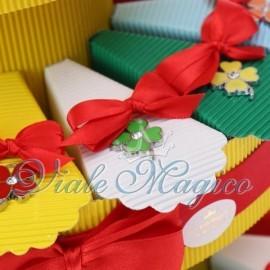 Torta Bomboniere Ciondolo Quadrifoglio con Strass per Compleanno