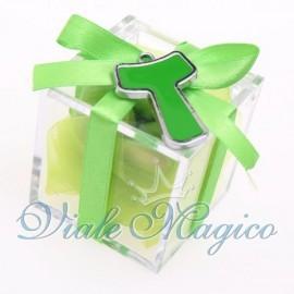 Bomboniere Prima Comunione Plexiglass con Ciondolo Tao Verde Offerte Sconti