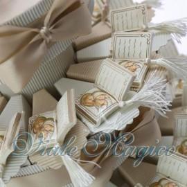 Bomboniere Battesimo Cresima Comunione Torta Libro Sacra Famiglia Confettata