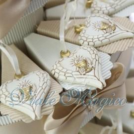 Torta Portaconfetti Cuore Alato Calice Comunione