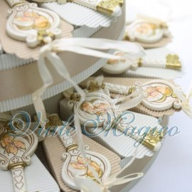 Torta Portaconfetti con Chiave Sacra Famiglia