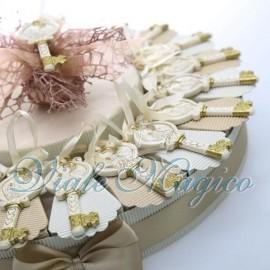 Torta Portaconfetti con Chiave Immagine Cresima