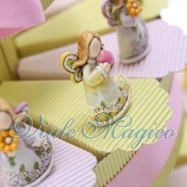 Torta Portaconfetti con Statuina Angelo Stilizzato
