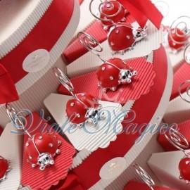 Torta Portaconfetti Memoclip Coccinella Rossa
