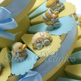 Torta Portaconfetti Mix Statuine per Bimbo