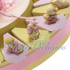 Torta Portaconfetti Mix Statuine per Bimba